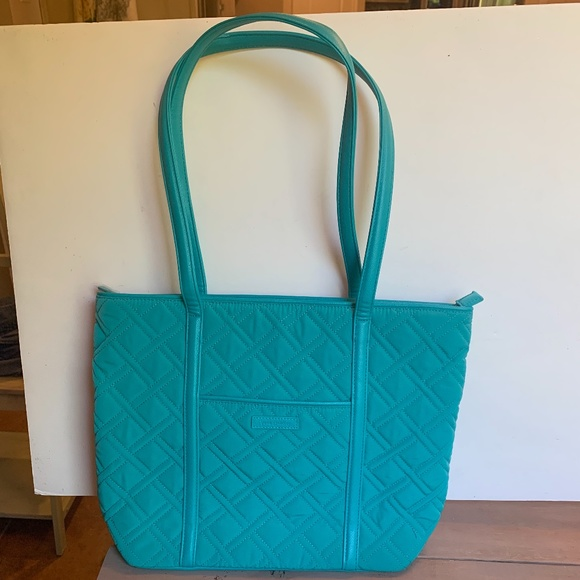 Vera Bradley Small Trimmed Vera Bag